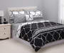 Black and White Tile King 8 Piece Reversible Comforter Set lifestyle bedroom