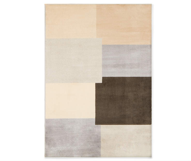Block Ace Area Rug 6 Feet 6 Inches by 8 Feet 6 Inches overhead view silo image