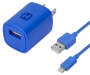 Blue AC Wall Charger with Lightning Cable