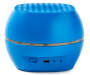 Blue Bluetooth Portable LED Light Speaker Back Silo front