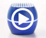 Blue Bluetooth Portable LED Light Speaker Video