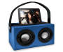 Blue Bluetooth Retro Boombox Speaker Ipad In Dock Silo