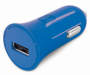 Blue Car Charger with Micro USB Cable Car Adaptor with Port Showing Silo Image