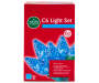 Blue Crystallized C6 LED Light Set with Green Wire 60 Count silo front package
