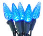Blue Crystallized C6 LED Light Set with Green Wire 60 Count silo front