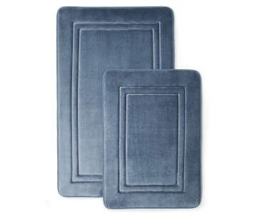 Non Combo Product Ing Price 17 0 Original List 00 Just Home Blue Embossed Memory Foam Bath Rug Set