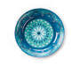 Blue Floral Medallion Melamine Salad Bowl silo top view