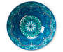 Blue Floral Medallion Melamine Serving Bowl silo top view