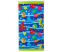 Blue Fun Fish Beach Towel 30 inches x 60 inches silo front