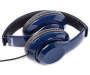 Blue High Definition In Line Headphones sio side view