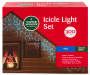 Blue Icicle Light Set 300 Count silo front package view