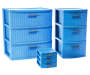 Blue Mini 3 Drawer Desktop Organizer silo front collection