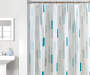 Blue Mix Stripes PEVA Shower Curtain 72in lifestyle
