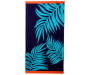 Blue Palms Double Jacquard Beach Towel 38 inches x 72 inches silo front