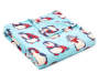 Blue Penguins Soft Throw silo angled