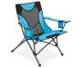 Blue Sports Folding Quad Chair silo angled
