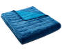 Blue Velvet Plush Full Queen 3 Piece Quilt Set silo front quilt