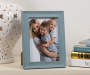 Blue Wash Wood Scoop Picture Frame 5 inch x 7 inch lifestyle