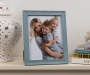 Blue Wash Wood Scoop Picture Frame 8 inch x 10 inch lifestyle