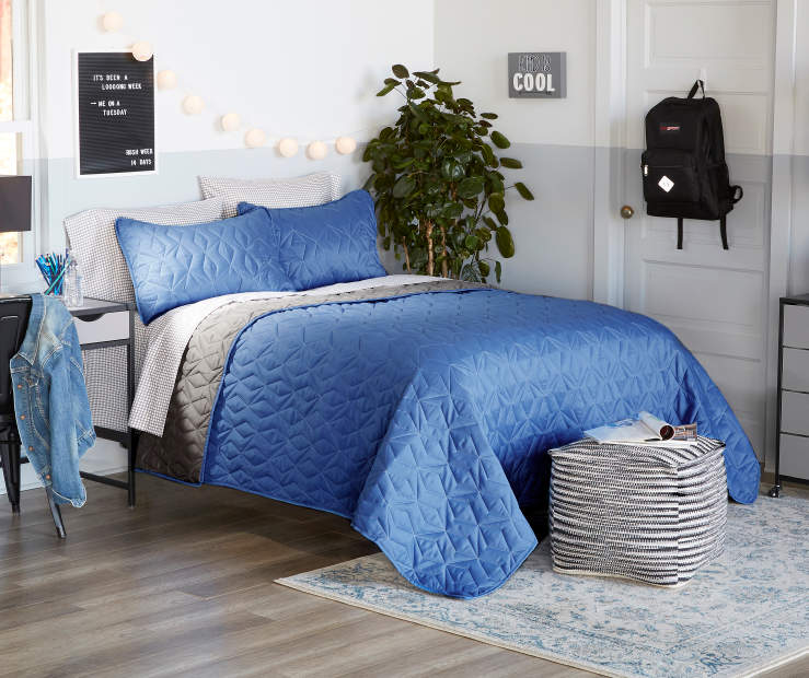 Just Home Just Home Blue Amp Gray Quilt Sets Big Lots