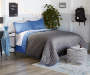 Blue and Gray 3 Piece Full Queen Reversible Quilt Set lifestyle bedroom