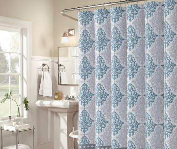 Non Combo Product Selling Price 120 Original List 1200 Aprima Blue Gray Medallion Gavi Shower Curtain