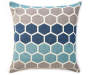 Blue and Gray Theo Oversized Throw Pillow 24 inch x 24 inch silo front