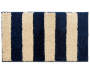 Blue and Tan Stripes Shag Accent Rug 1 feet 8 inch x 2 feet 10 inch silo front