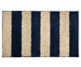 Blue and Tan Stripes Shag Accent Rug 2 feet 3 inch x 3 feet 9 inch silo front