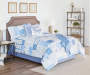 Blue and White Marissa Patchwork 12 Piece King Comforter Set bedroom setting