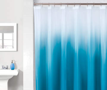 Non Combo Product Selling Price 60 Original List 600 Just Home Blue White Ombre PEVA Shower Curtain