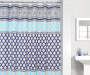 Blue and White Valerie 13-Piece Shower Curtain and Hooks Set Bathroom Lifestyle Image