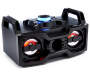 Bluetooth Color Changing LED Boom Box Red Lights On Angled View Silo Image