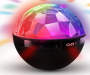 Bluetooth Disco Ball Speaker with Clock Light Display with Time Showing Silo Image