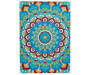 Bohemian Mandala Multi Color Indoor Outdoor Area Rug 5 feet by 7 feet Silo Overhead View