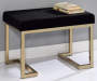 Boice Black and Champagne Upholstered Ottoman Lifestyle