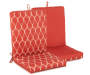 Bolton Red Geometric and Solid Reversible Outdoor Chair Cushion Silo Image