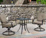 Boulder Bridge Tan 3-Piece Bistro Set