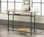 Boulevard Café Black Metal & Glass Console Table