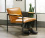 Boulevard Café Camel Brown Lounge Chair