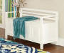 Brady White Storage Bench lifestyle
