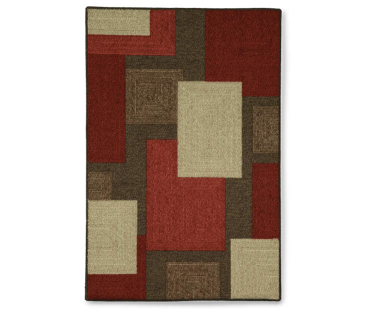 Brampton Accent Rug 2 Feet 6 Inches by 3 Feet 10 Inches Overhead Shot Silo Image