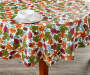 Branches and Acorns Harvest Round Table Cloth 60 Inches on Table with Props in Room Environment Lifestyle Image