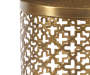 Brass 2 Piece Metal Nesting Accent Table Set silo front close up