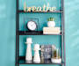 Breathe Gold Word Plaque Lifestyle Image