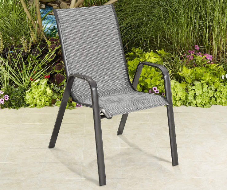Wilson Amp Fisher Brentwood Sling Stacking Chair Big Lots