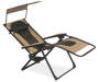 Brentwood Brown Zero Gravity Chair silo side view