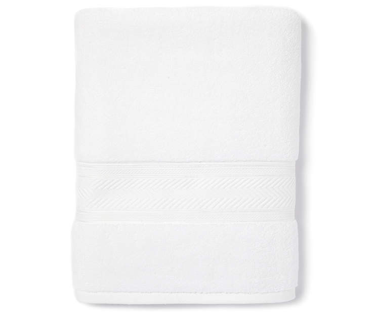 Bright White Bath Towel Silo