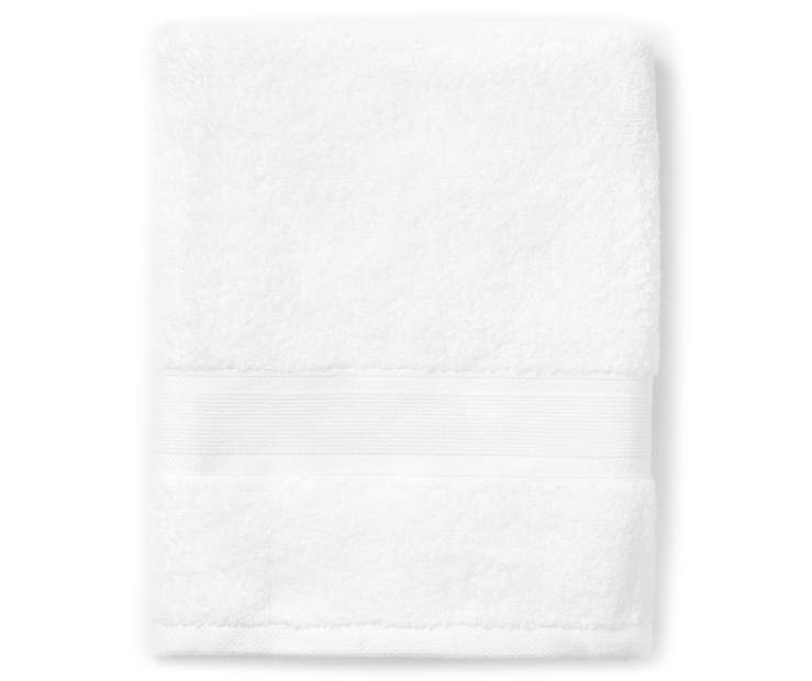 Bright White Bath Towel silo front