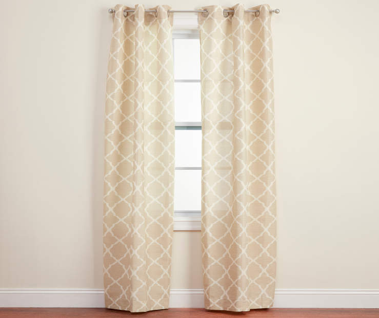 Brinson Natural Geo Curtain Panel Pair 84in lifestyle